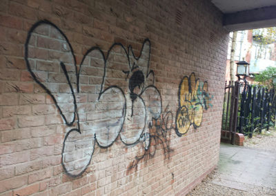 Graffiti Removal Spray Can Paint Remover Brick Before