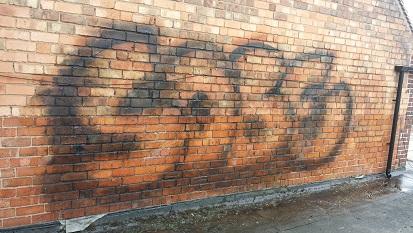 Graffiti Removal External Brick Before