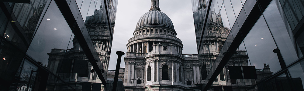 Three examples of classic London architecture