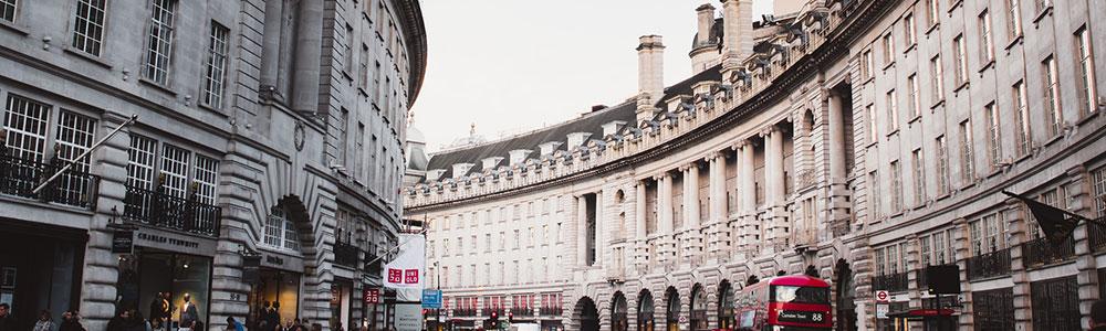 A Photo of London's Famous Building Facades
